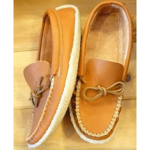 Moccasins With Crepe Rubber Soles