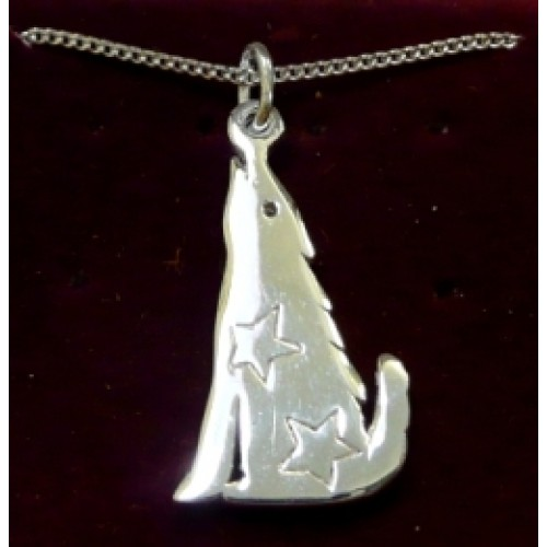 Silver Wolf Pendant