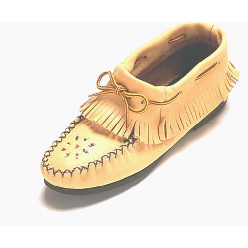Ladies Leather Ankle Moccasin