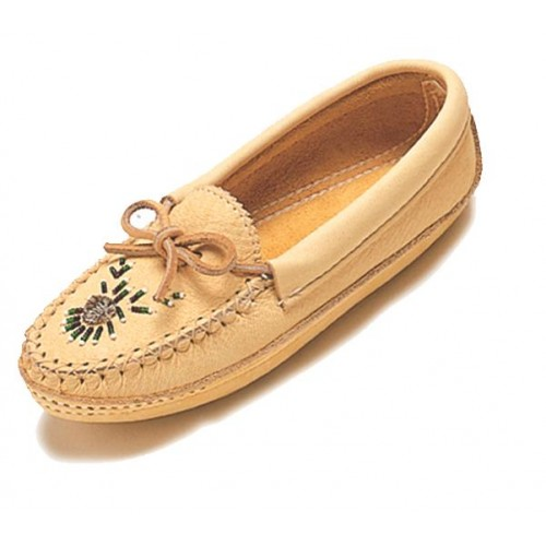 Ladies Moccasins with Moosehair Tufting