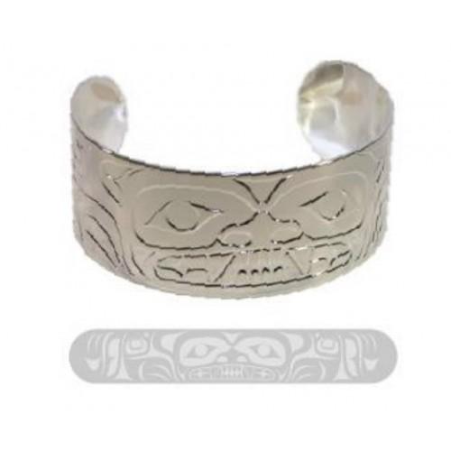 Silver Bear Design Bracelet