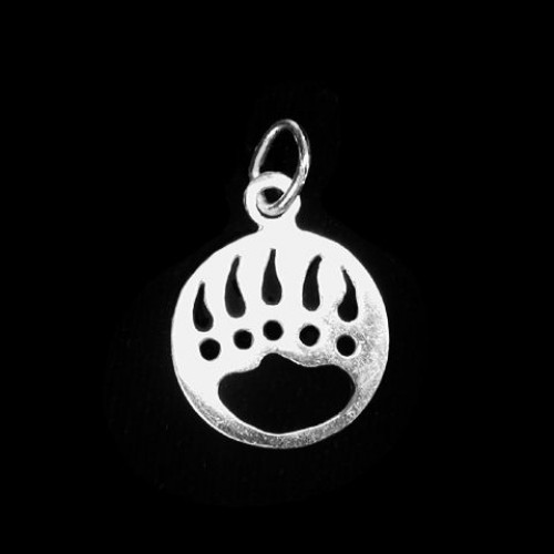 Sterling Silver Bear Paw Necklace