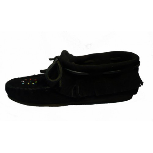 Suede Leather Ankle Moccasin