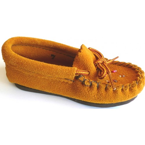 Children's Suede Leather Moccasins