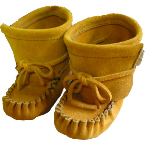 Suede Leather Baby Bootie