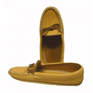 Ladies Double Soled Moose Moccasins