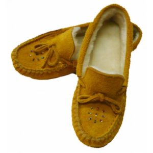Ladies Suede Moosehide Moccasins