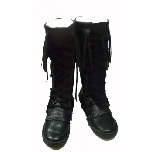 Black Leather Mukluks