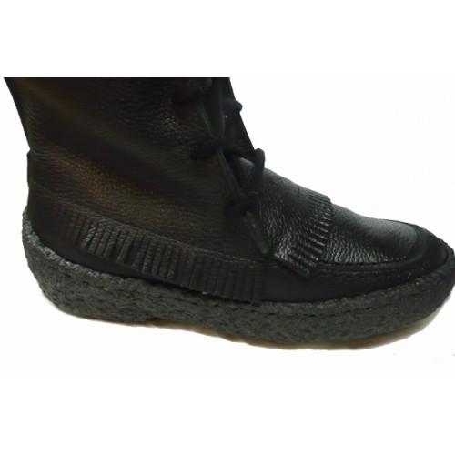 Black Leather Mukluks